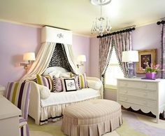 for a young girl--LOVE the room; can't really handle that much purple...