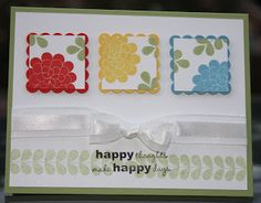 Sunday, September 12, 2010  Apple Blossoms by Stampin' Up!