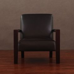 Roadster Dark Brown Leather Chair | Overstock.com