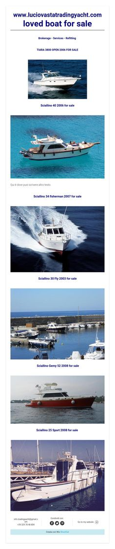 www.luciovastatradingyacht.comloved boat for sale