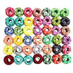 CurtzyTM 42 Colourful Crochet Cotton Thread Reels 3990 Metres Crafts Knitting Lacing *** Read more reviews of the product by visiting the link on the image.