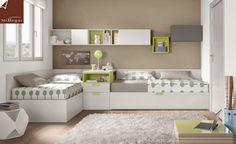 Resultado de imagen para camas en l juveniles
