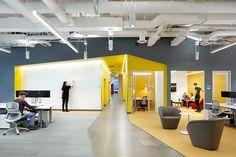 Interior of Microsoft Canada's new Vancouver development centre.