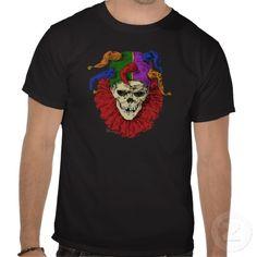 Death Jester Clown Skull Tee Shirts