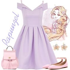 Rapunzel by violetvd on Polyvore featuring Chi Chi, Gianvito Rossi, Dolce&Gabbana and Mixit