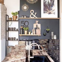 Discover recipes, home ideas, style inspiration and other ideas to try. Modern Condo, Modern Decor, Kitchen Benchtops, Art Deco, Bohemian Decor, Kitchen Decor, Sweet Home, Room Decor, Interior Design
