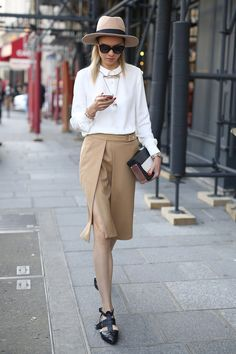 PFW Street Style Day 4: Neutrals with a Parisian-chic touch.