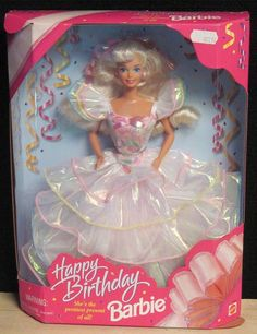 95 Happy Birthday Barbie. Got this one for my daughter on her 6th birthday