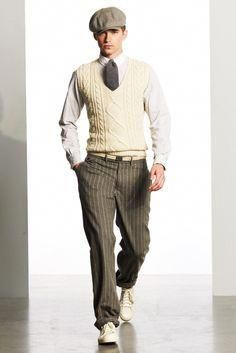 Golf Fashion Vintage Ralph Lauren Fall 2010 Menswear Collection - Vogue - The complete Ralph Lauren Fall 2010 Menswear fashion show now on Vogue Runway. Mode Masculine, Vintage Outfits, Vintage Fashion, Looks Style, Looks Cool, Costume Année 30, Ralph Lauren, 1920 Men, Roaring 20s Fashion