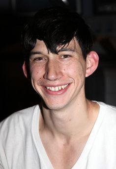 Adam Driver smiling awww:-)