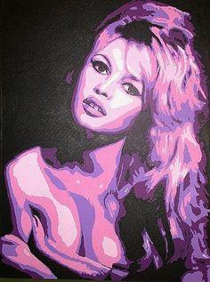Brigitte bardot Stencil Art, Goddess Sculpture, Photo Inspiration, Caricature, Pulp Fiction, Female Art, Artwork, Pencil Art Drawings, Pop Art