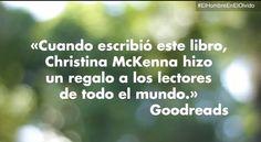 """Ya puedes visionar en nuestro canal """"literario"""" de Youtube el booktrailer de """"El hombre en el olvido"""", de Christina McKenna http://ow.ly/rSb40"""