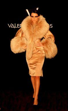 Beautiful Fur and satin coat