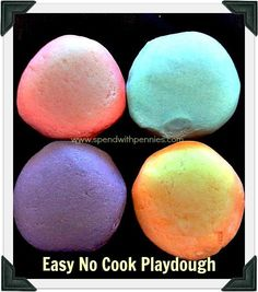 no cook play dough photo