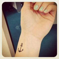 anchor tatto - LOVE! - something I might actually get - but not on my wrist. Maybe white ink