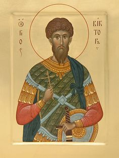 icon of the holy martyr victor of damascus