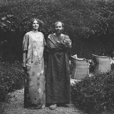 Austrian artist Gustav Klimt and the fashion designer Emilie Louise Floge, his life companion.
