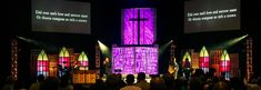 Kyle Gordon fromValley View Churchin Louisville, KY brings us these great faux stained glass pieces. This stage design was from a night of worship theyhad called, Age to Age: A Night of Hymns, S...