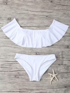 Off The Shoulder Flounce Bikini Set