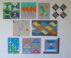 QuiltCon blocks - Triangles from the modern quilt guild