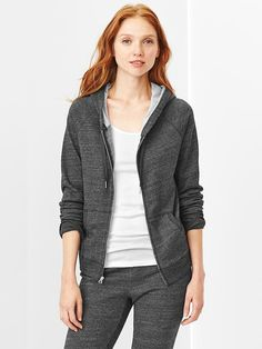 LINK : https://yroo.com/af/1446520/ruid/21327 Gap Women French Terry Hoodie Size XS - dark charcoal heather | 23% OFF