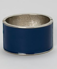 Another great find on #zulily! Royal Blue & Silver Wide Bracelet #zulilyfinds