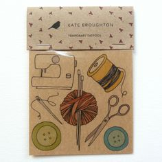 Kate Broughton | craft tattoo stickers: set of 7 - What fun!
