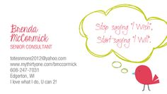 New business cards from Thirty One. Loving them!!