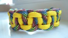 Handmade 550 paracord cobra belly weave bracelet by TagpagBracelets on Etsy
