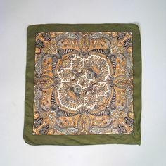 Vintage 1970s LIBERTY of London paisley print scarf.  Etsy.