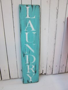LAUNDRY Room Wooden Sign....but in yellow
