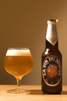 Unibroue's La Fin du Monde (Chambly, Quebec): This triple-style Golden Ale is mildly yeasty with notes of malt, fruit, and spices. ABV - 9%