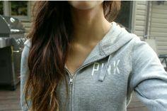 grey vs pink jacket. ♡