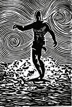 Print in black and white of original by CoastalFreshDesigns,