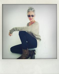 Linda Rodin, stylist and founder of Rodin Olio Lusso gives off such a chic relaxed vibe