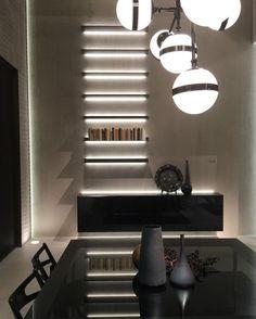 #rimadesio EOS shelves with LED - design gelakt glazen legplanken