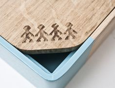 Solid Oak Container Box In Laser Cut With Shapes From Cyprus Traditional  Art (embroidery)