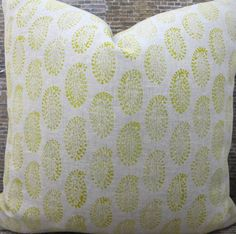 This listing is for one designer pillow cover. Select your pillow cover size at the time of checkout.  Modern paisley geometric block print design.