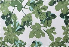 "Fig Leaf    Colorway: FL02-OUT-Original-on-PARA    Material: 55% Linen 44% Cotton    Repeat: 18""H x 23""V"