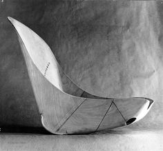 Model for airplane pilot's seat, by Charles and Ray Eames