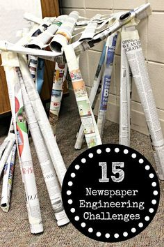 Newspaper Engineering Challenges for Kids | STEM at Home & in the Classroom