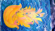 Ebru art by Anastasia Dolgoruchenko Art, Ebru Art, Starry Night, Starry