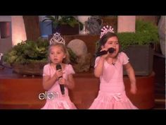 Sophia Grace and Rosie singing Super Bass and meeting Nicki Minaj on Ellen.