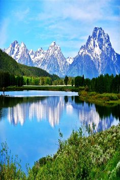 Grand Teton National Park in Wyoming. Stop by YellowStone National Park while you're there!