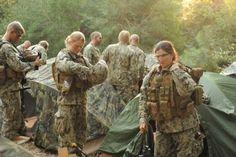 Female Marines training