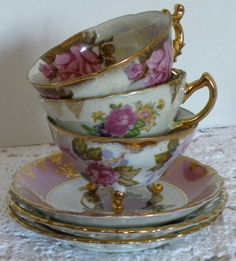 Vintage Japanese tea cups, find on etsy at The DH Collection
