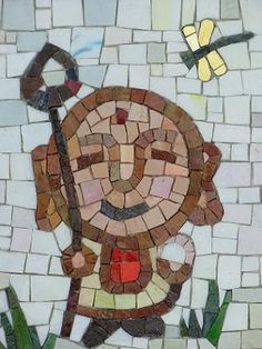 IN ARTE HASHIMOTO: Bambino protettore 3.  Check out more of our mosaic work here: inartehashimoto.blogspot.com