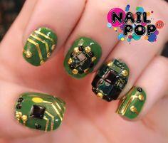 NEW Circuit Board nail design!
