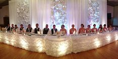 reception head table decoration ideas - Google Search
