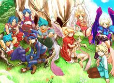 All the Ryus and Ninas from the Breath of Fire series